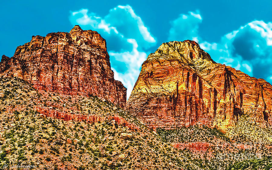 Sedona Arizona Secret Mountain Wilderness Digital Art  - Sedona Arizona Secret Mountain Wilderness Fine Art Print