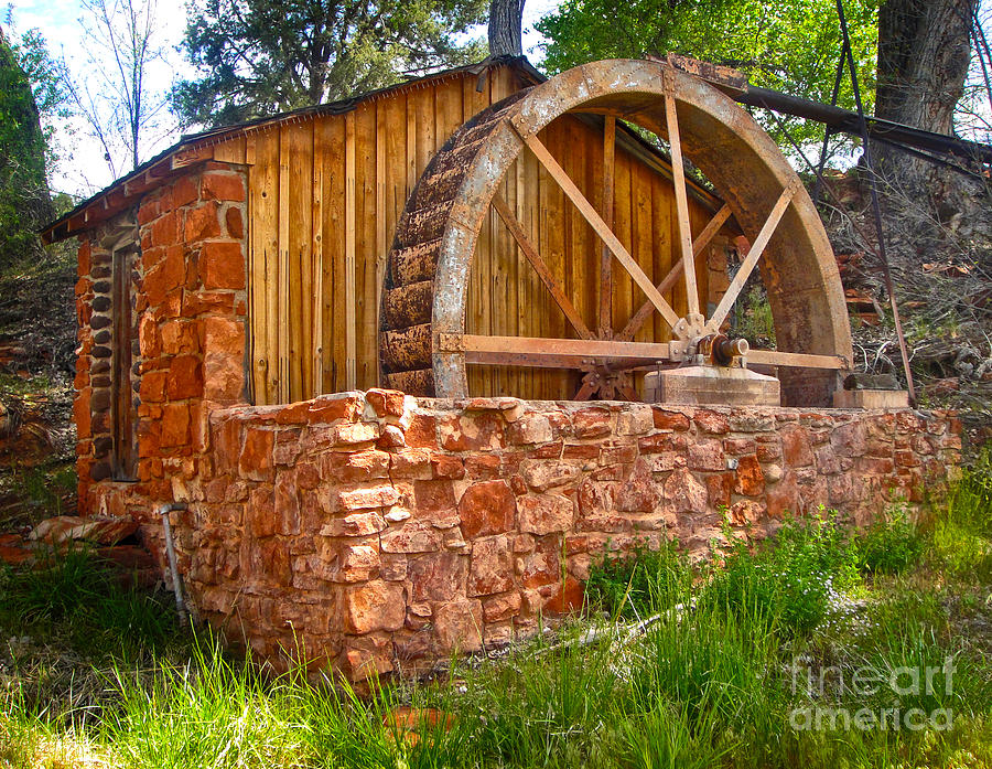 Sedona Arizona Water Wheel Photograph  - Sedona Arizona Water Wheel Fine Art Print