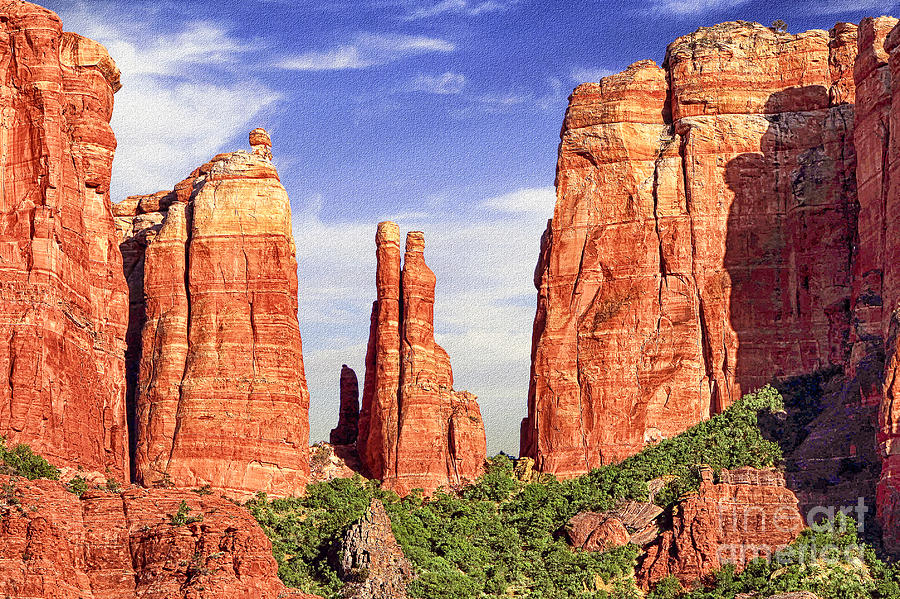 Sedona Red Rock Cathedral Rock State Park Digital Art
