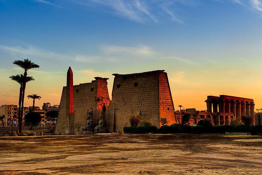 Seeking The Ancient Ruins Of Thebes In Luxor Photograph  - Seeking The Ancient Ruins Of Thebes In Luxor Fine Art Print