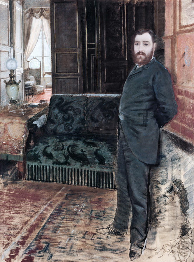 Self-portrait, , By Giuseppe De Nittis Drawing