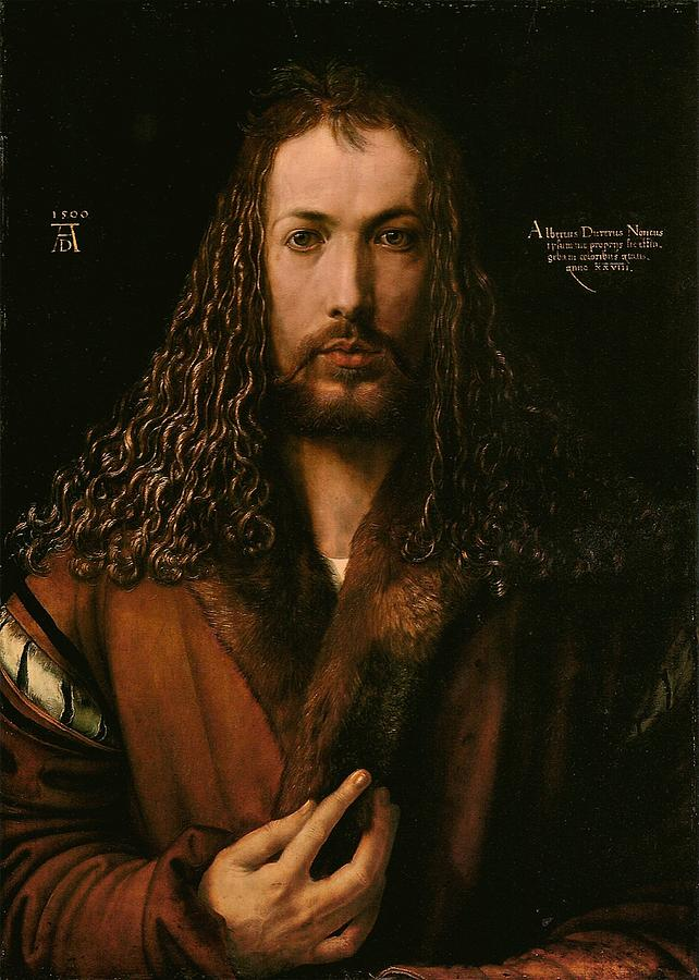 Albrecht Painting - Self Portrait At The Age Of Twenty Eight 1500 by Philip Ralley