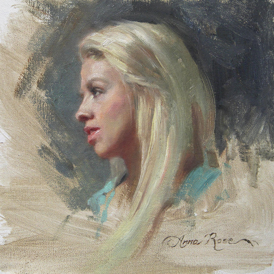 Self Portrait In Profile Painting  - Self Portrait In Profile Fine Art Print