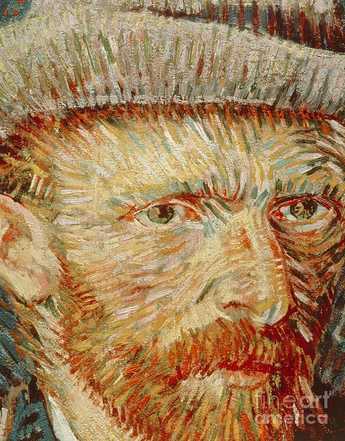 Self-portrait With Hat Painting