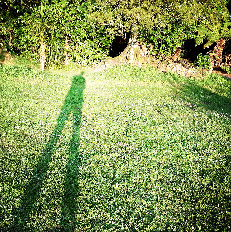 Alone Photograph - Selfie Shadow by Les Cunliffe