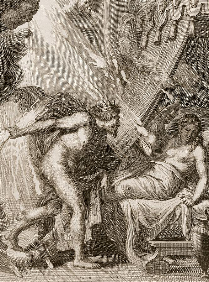 Semele Is Consumed By Jupiters Fire Drawing