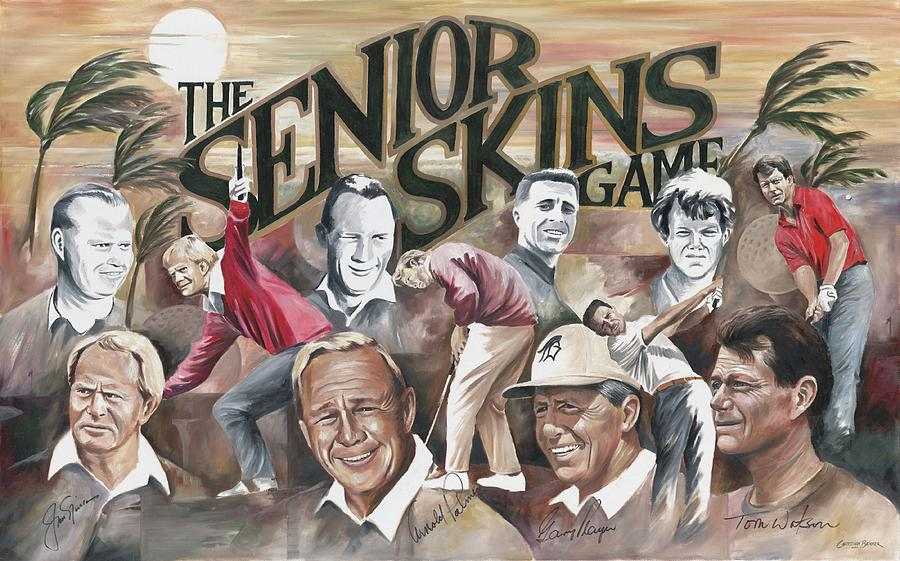 Senior Skins Game Painting  - Senior Skins Game Fine Art Print