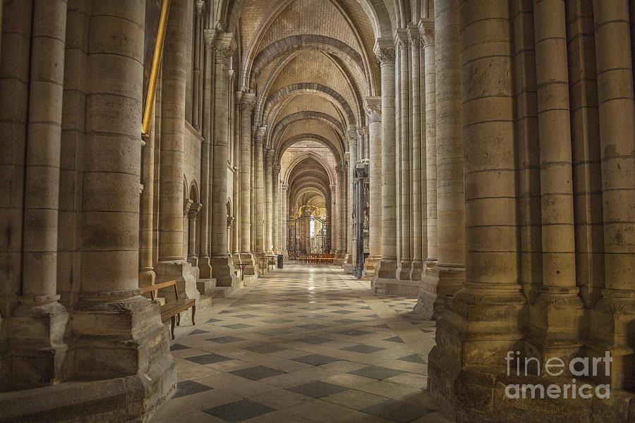 Sens cathedral france aisle photograph by lumiere de - Luminaire st etienne ...