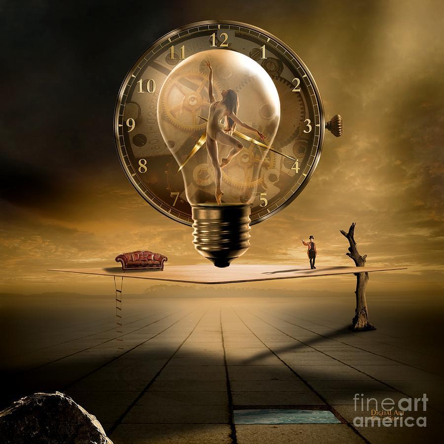 Gold Digital Art - Sensitive Wisdom by Franziskus Pfleghart