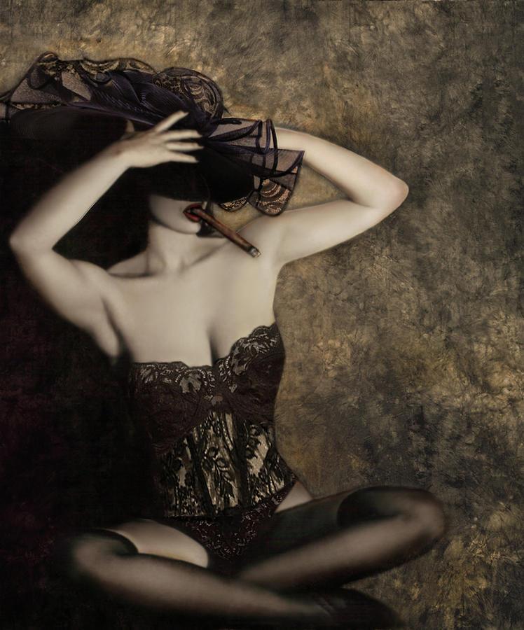 Sensuality In Sepia - Self Portrait Photograph
