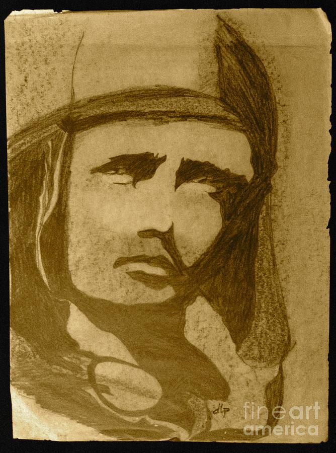 Sepia Aviator Drawing