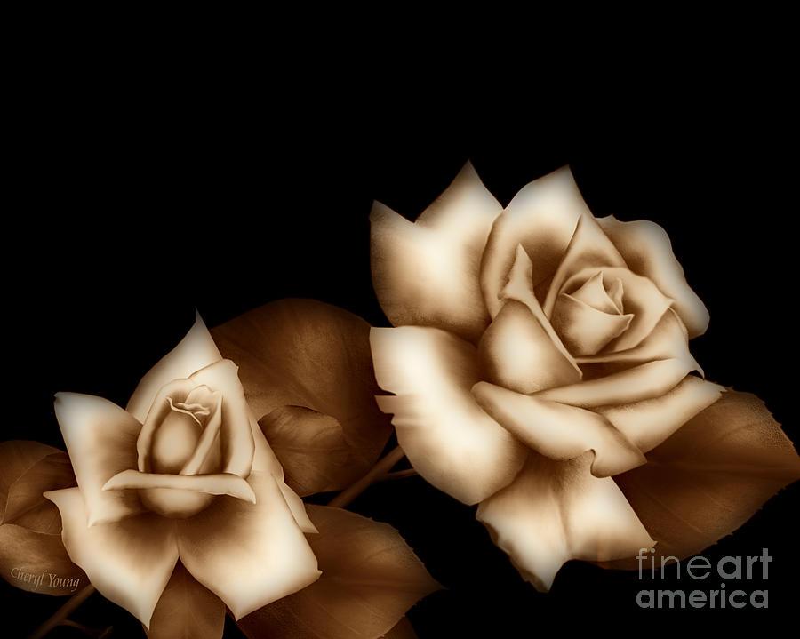 Sepia Roses Photograph