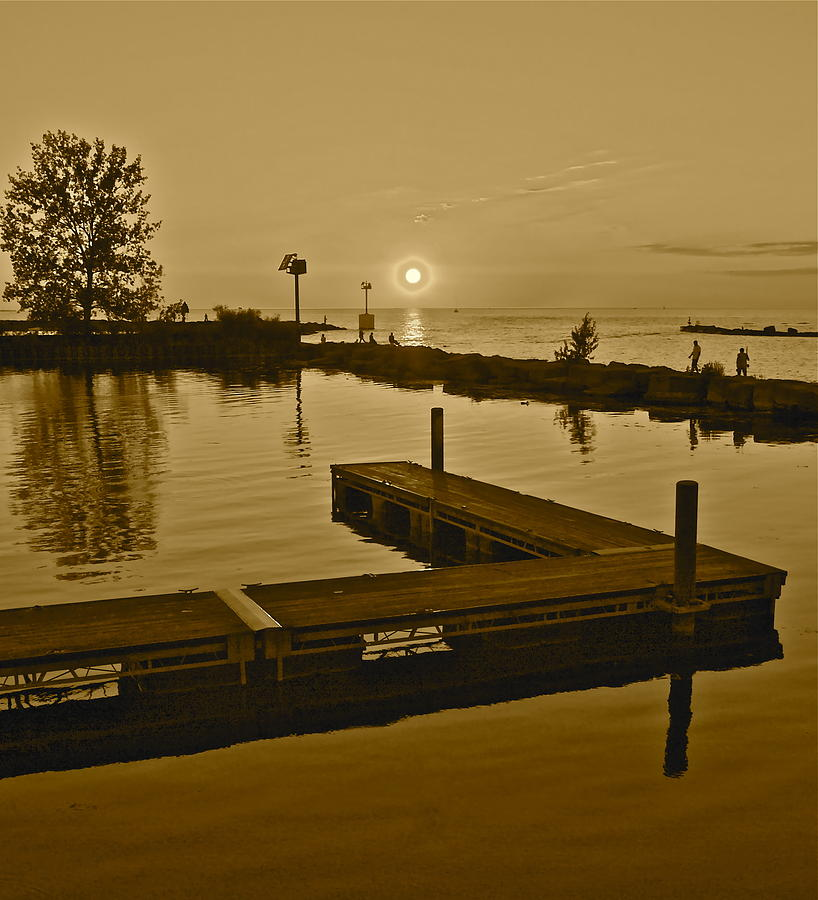 Sepia Sunset Photograph  - Sepia Sunset Fine Art Print