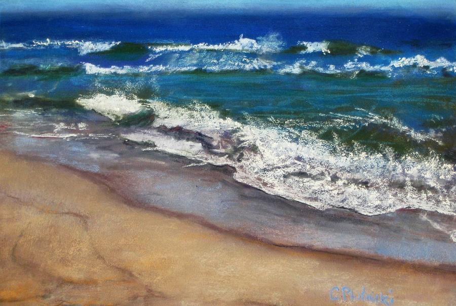 Surf Painting - September On Nantucket by Cindy Plutnicki