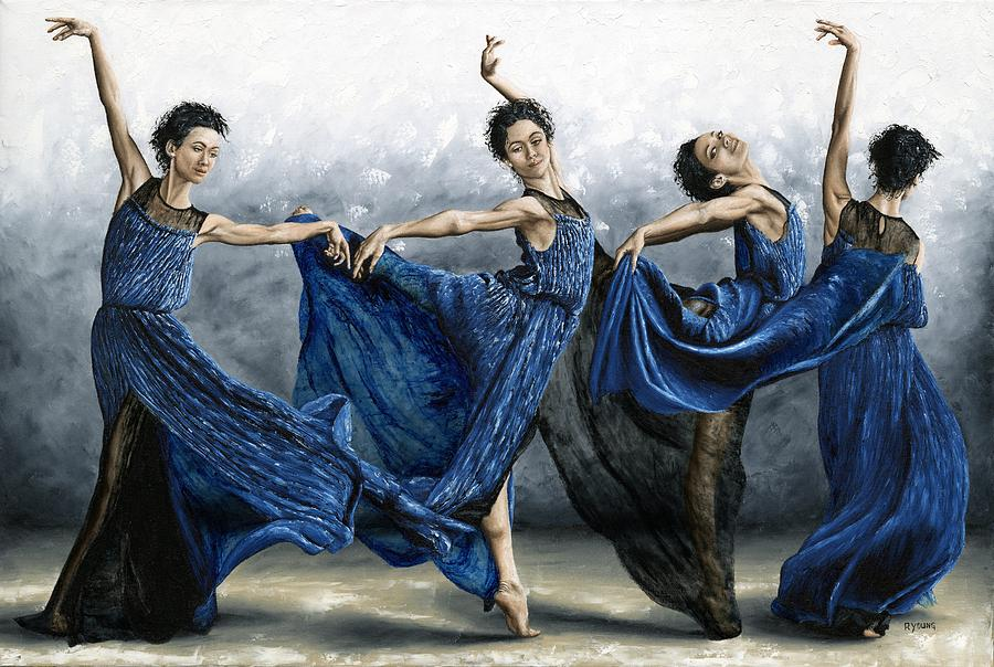 sequential dancer painting by richard young. Black Bedroom Furniture Sets. Home Design Ideas