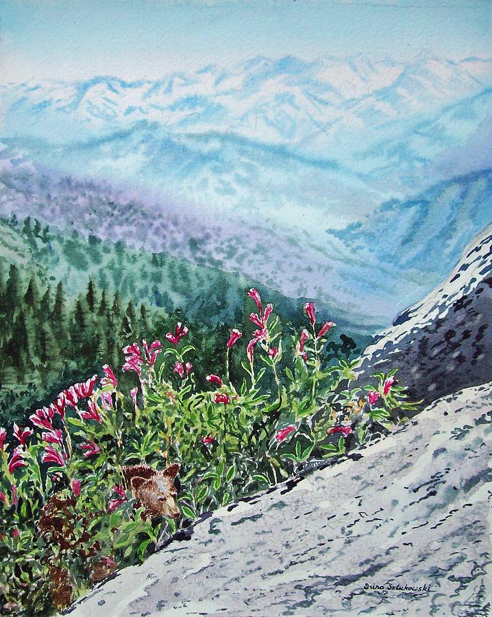 Sequoia Painting - Sequoia National Park by Irina Sztukowski