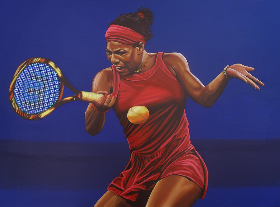 Serena Williams 2 Painting  - Serena Williams 2 Fine Art Print
