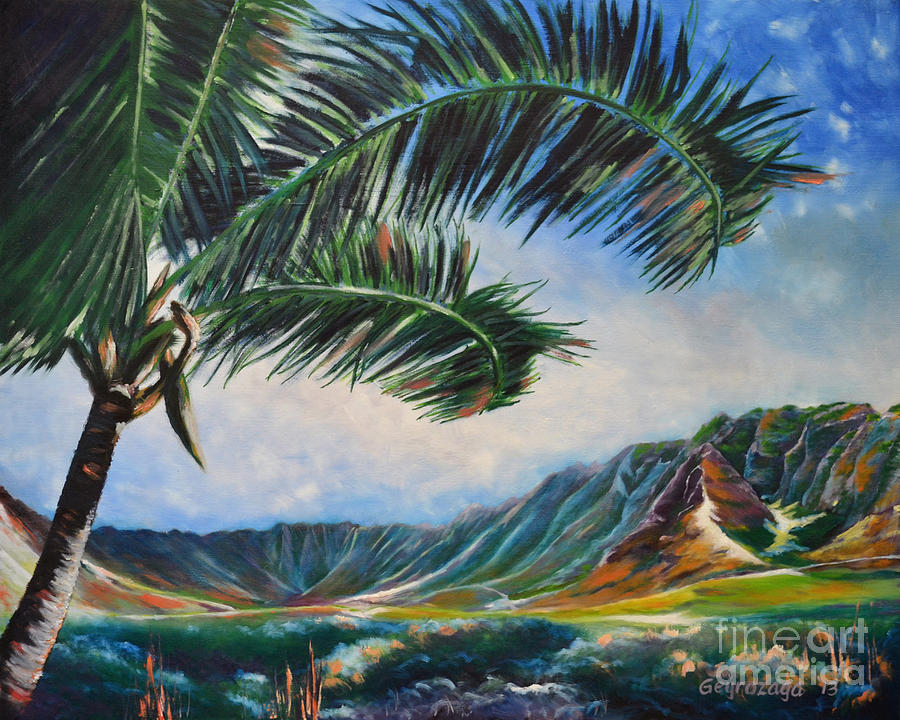 Serene Beauty Of Makua Valley Painting