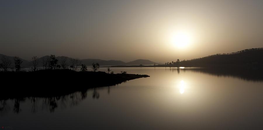Surreal Photograph - Serene Sunrise by Vinod Chauhan