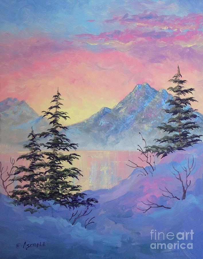 Serene Sunset Painting