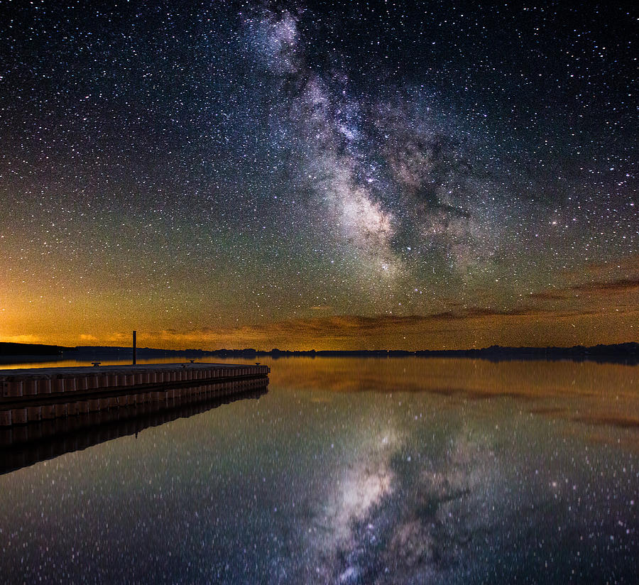 Milkyway Photograph - Serenity by Aaron J Groen