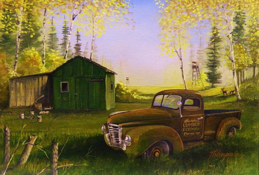 Old Truck Painting - Serenity One O One by Whitey Thompson
