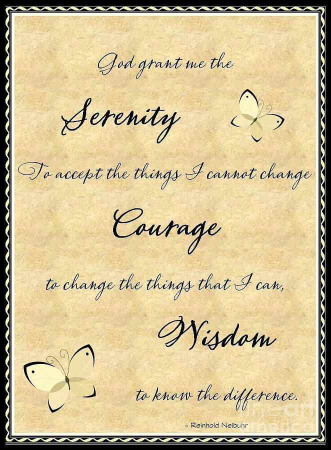 Outstanding Serenity Prayer Wall Art Photo - Wall Art Collections ...