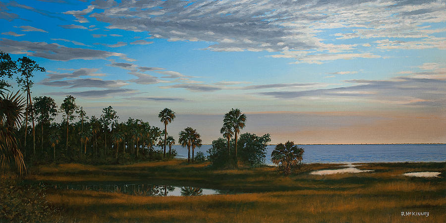 Florida Painting - Serenity by Rick McKinney