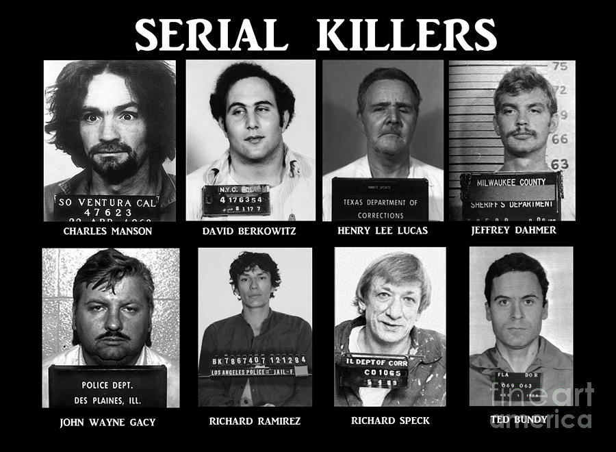 Paul Ward Photograph - Serial Killers - Public Enemies by Paul Ward