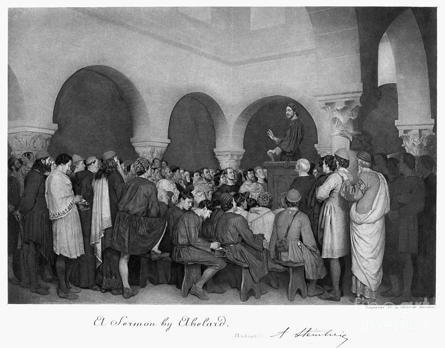 Sermon By Abelard Drawing  - Sermon By Abelard Fine Art Print