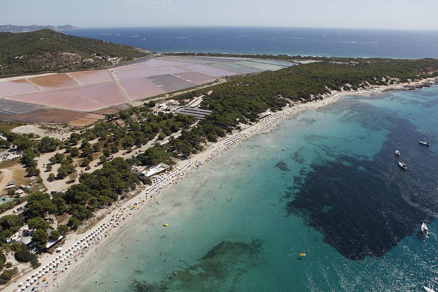 Baleares Photograph - Ses Salines Beach And Salterns, Ibiza by Xavier Durán