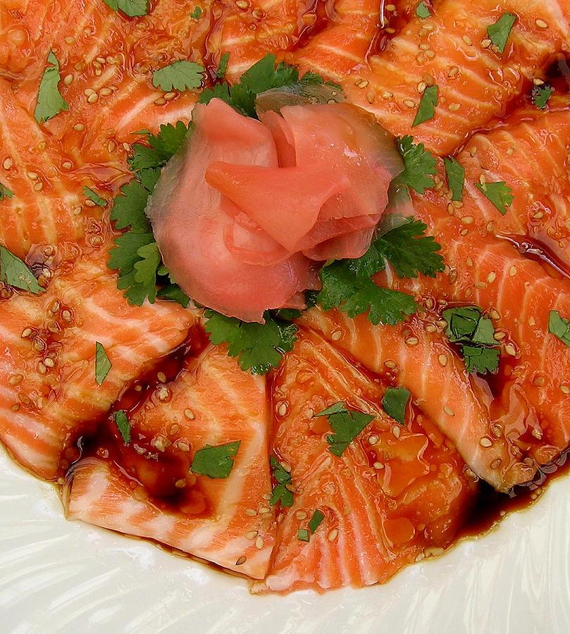 Sesame Salmon Sashimi Photograph