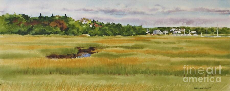 Marsh Painting - Sesuit Harbor Marshside by Karol Wyckoff