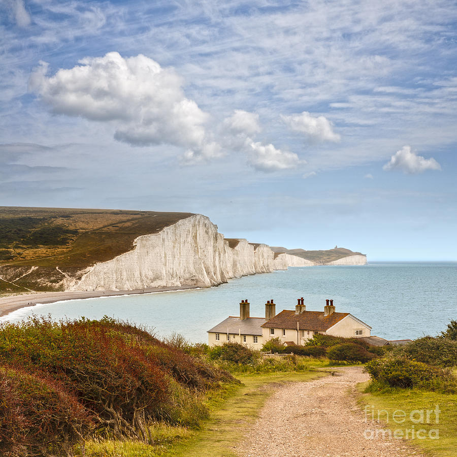 Seven Sisters Cuckmere Haven South Downs Sussex Photograph  - Seven Sisters Cuckmere Haven South Downs Sussex Fine Art Print