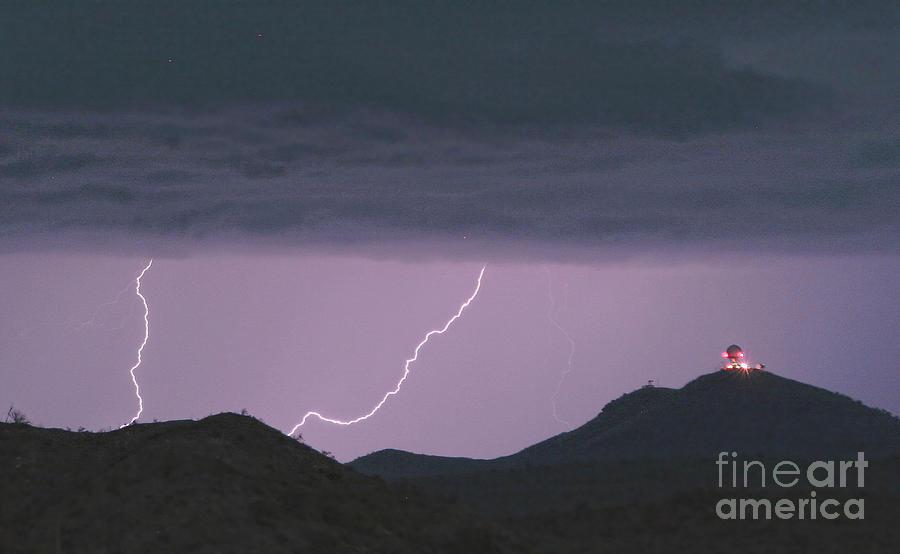 Seven Springs Lightning Strikes Photograph