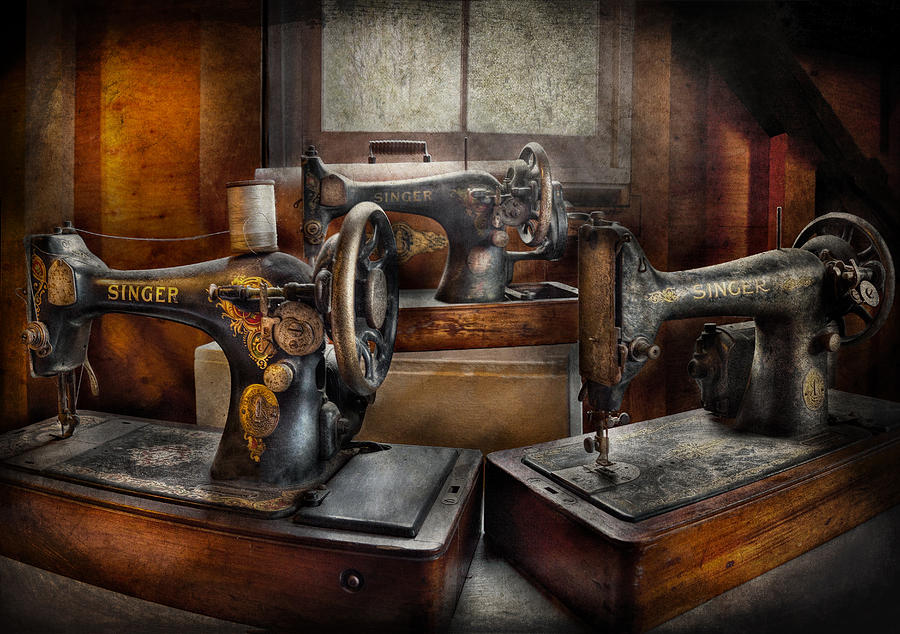 Hdr Photograph - Sewing - A Chorus Of Three by Mike Savad