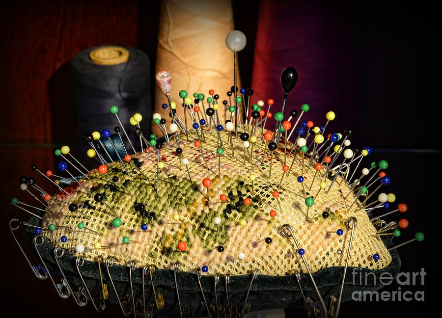 Sewing - The Pin Cushion Photograph  - Sewing - The Pin Cushion Fine Art Print