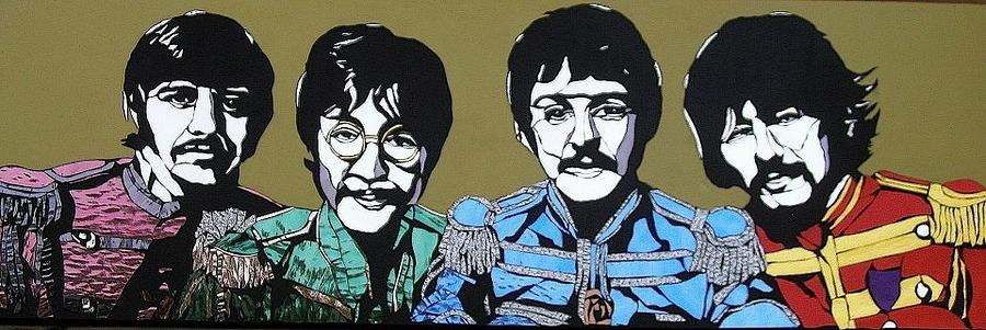 Beatles Glass Art - Sgt. Peppers Lonely Hearts Club Band by Tom Runkle