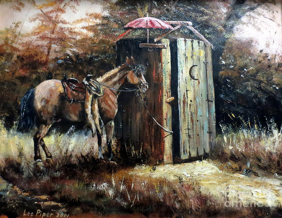 Field Painting - Shade For My Horse by Lee Piper