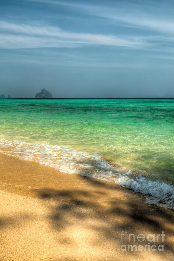 Shaded Beach Photograph