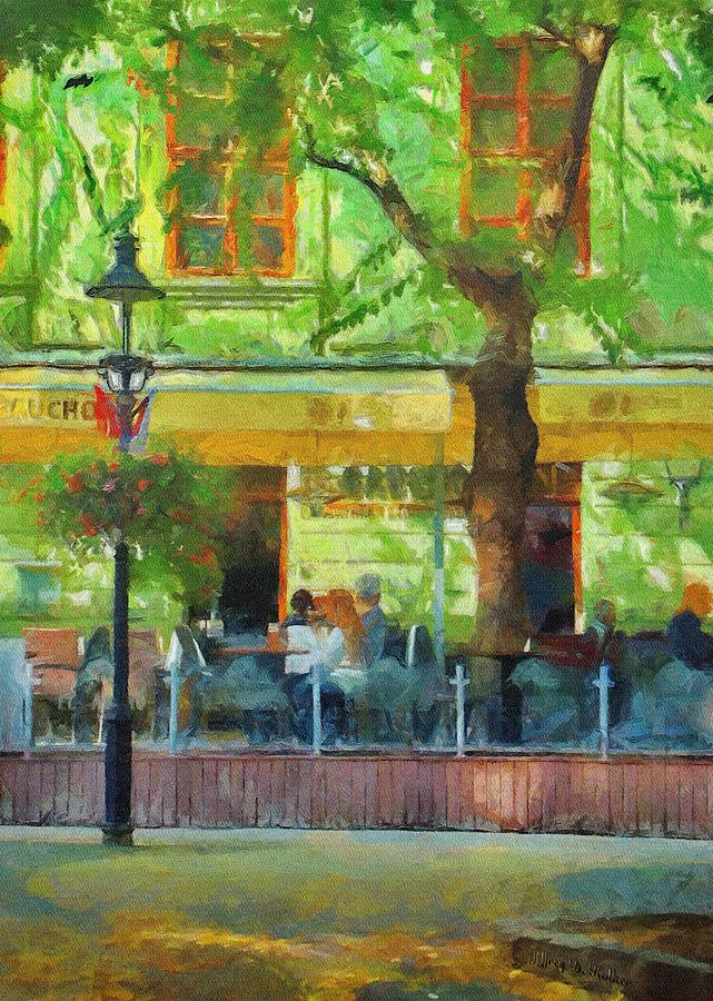 Shaded Cafe Painting