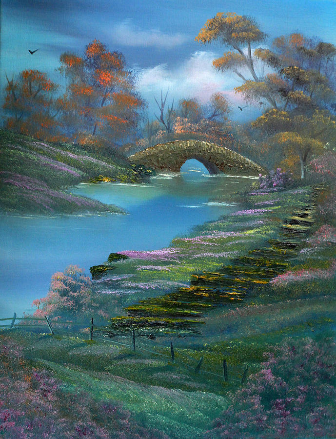 Landscape Painting - Shades Of The Orient. by Cynthia Adams