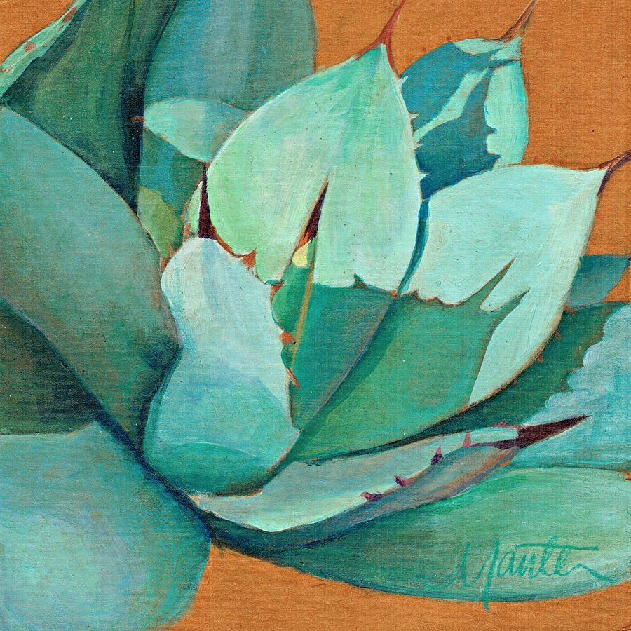 Agave Painting - Shadow Dance 3 by Athena  Mantle