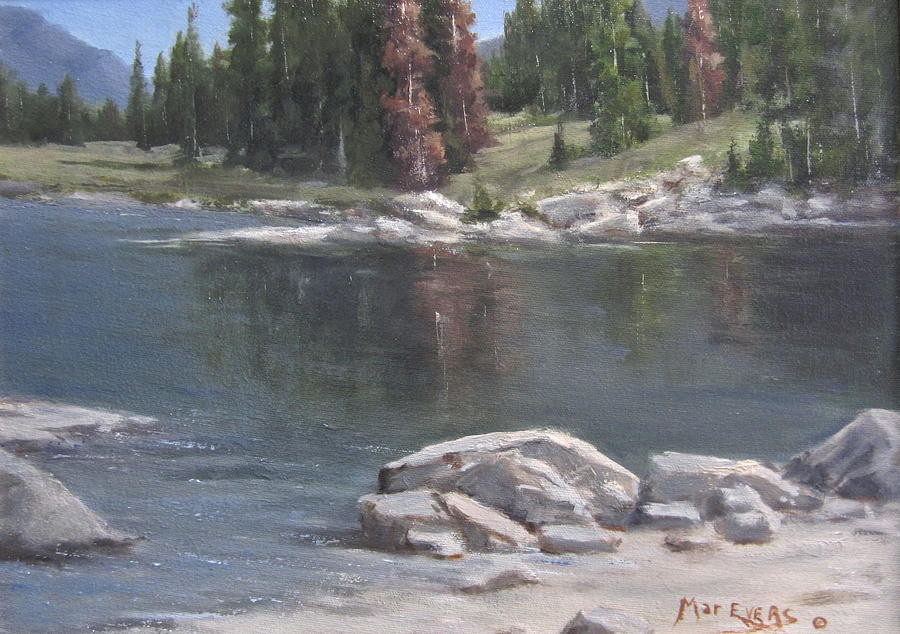Mountain Painting - Shadow Lake  by Mar Evers
