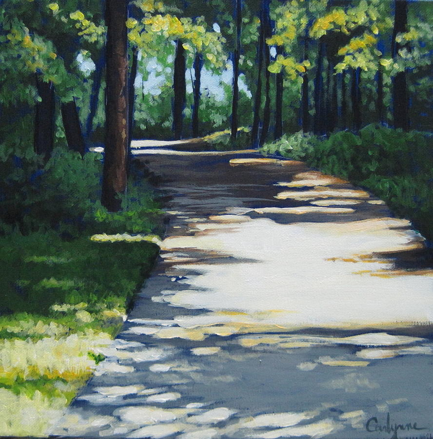 Shadow Path Painting  - Shadow Path Fine Art Print