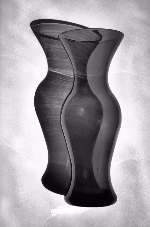 Vase Photograph - Shadow Play by Tom Druin