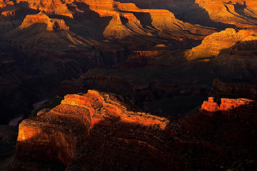 Shadows And Light In The Grand Canyon Photograph