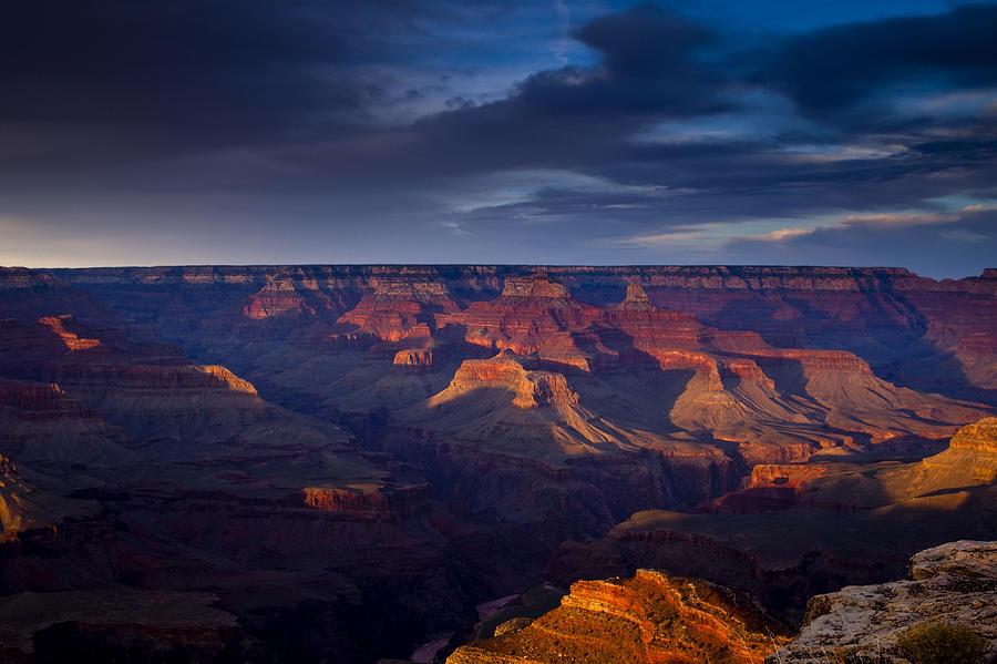 Shadows Play At The Grand Canyon Photograph