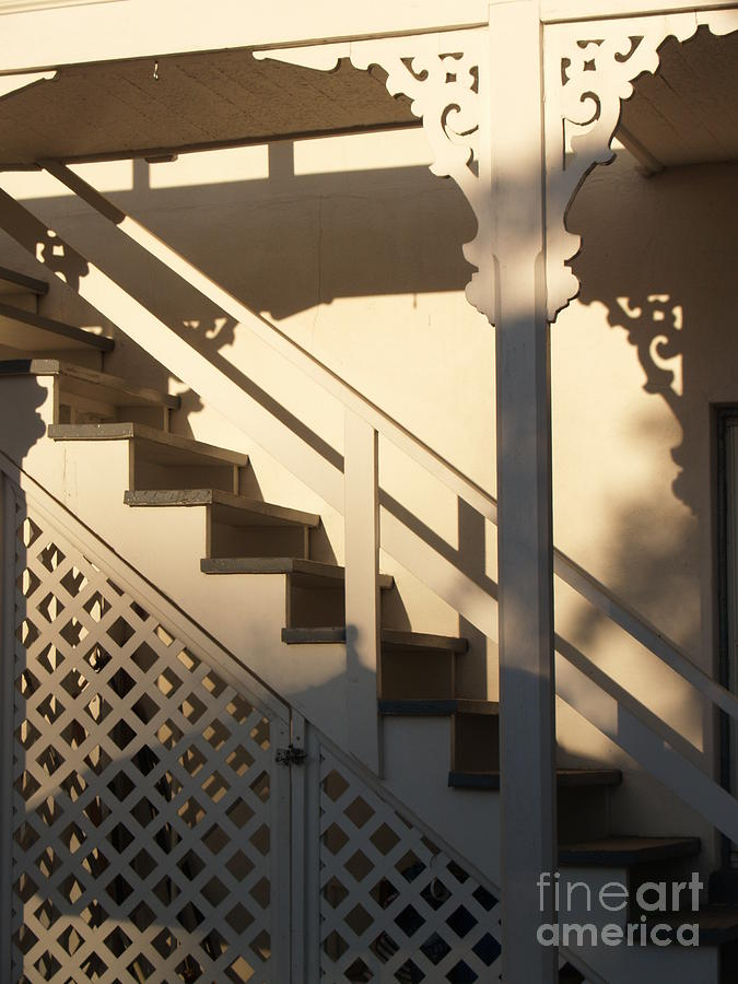 Shadowy Lambertville Stairwell Photograph