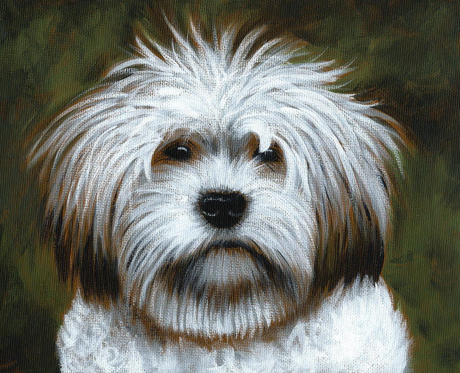 Shaggy ... Dog Art Painting Painting  - Shaggy ... Dog Art Painting Fine Art Print